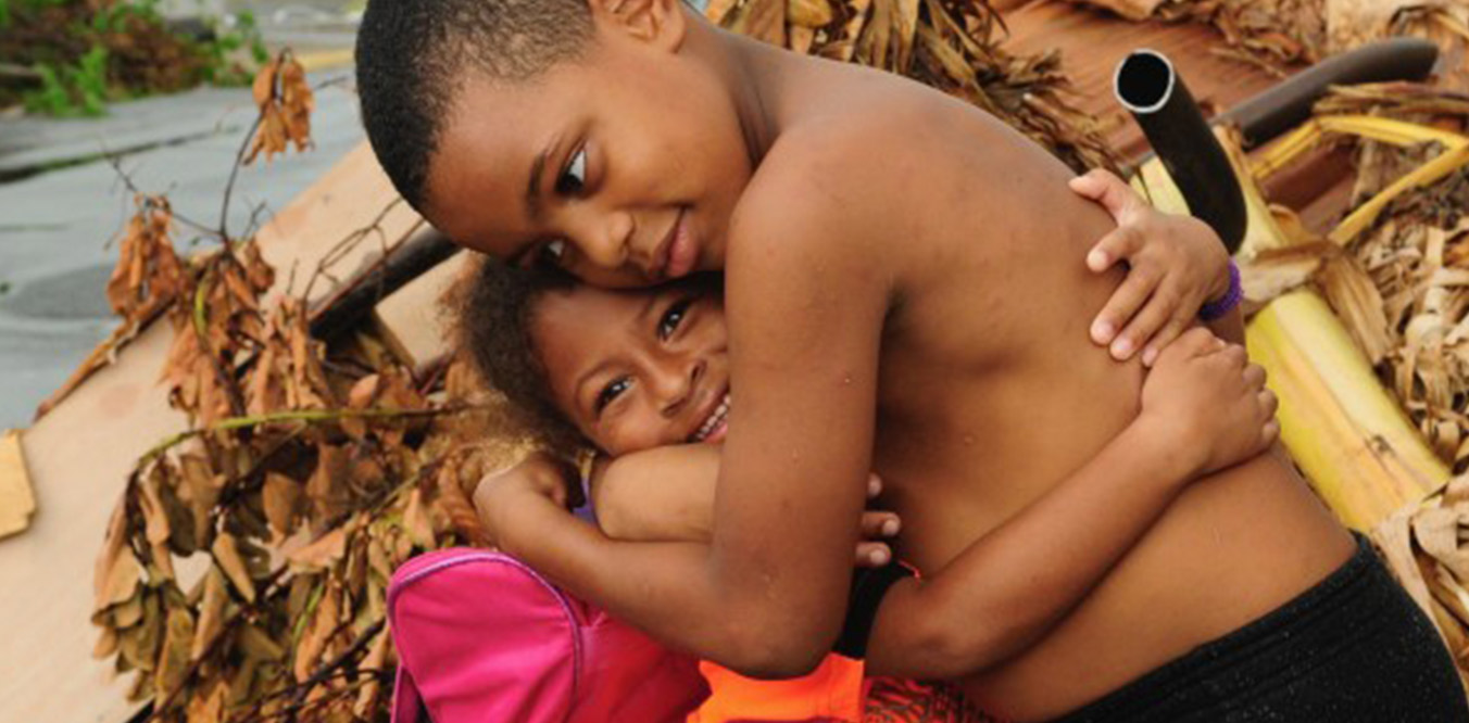 children hugging image