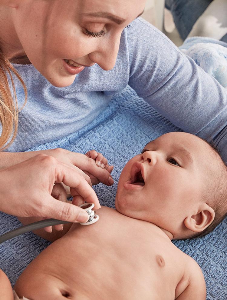 stethoscope on baby image